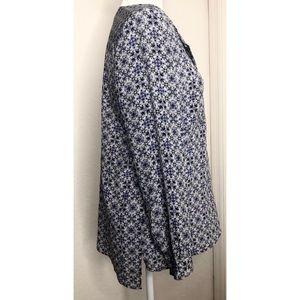 Joie Tops - Joie Medium Nepal Spanish Tile Silk Blouse